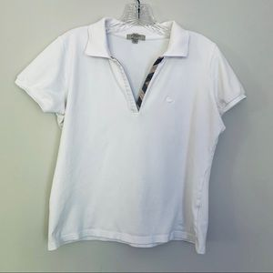 Burberry shirt sleeve polo